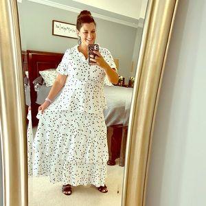Dresses & Skirts - Black/White Tiered Maxi Dress